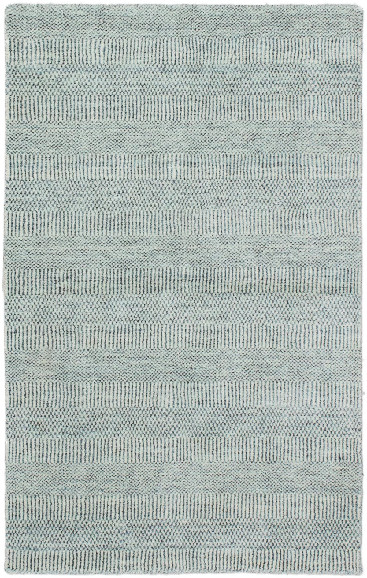 Brayden Studio Spencyr Pearl Hand Knotted Gray Blue Area