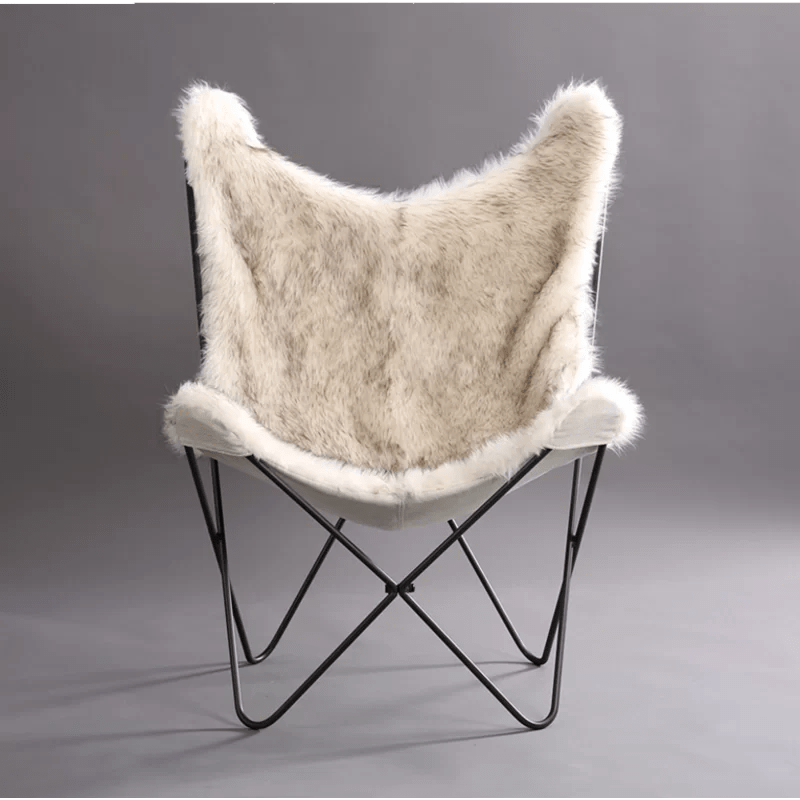 Byram Butterfly Faux Fur Cover Lounge Chair Amp Reviews