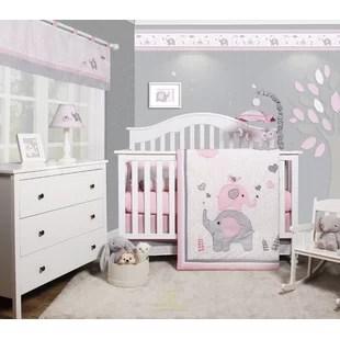 ensemble de literie pour lit de bebe fille 6 pieces elephant cheatwood ensemble de 6