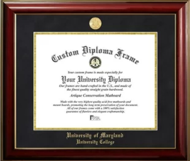 University Of Maryland University College Classic Diploma Picture Frame