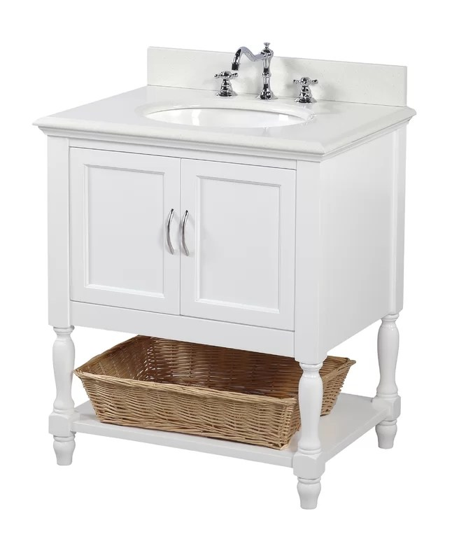 "kbc beverly 30"" single bathroom vanity set & reviews 