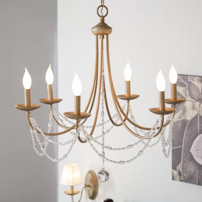 Reynal 6 Light Candle Style Chandelier