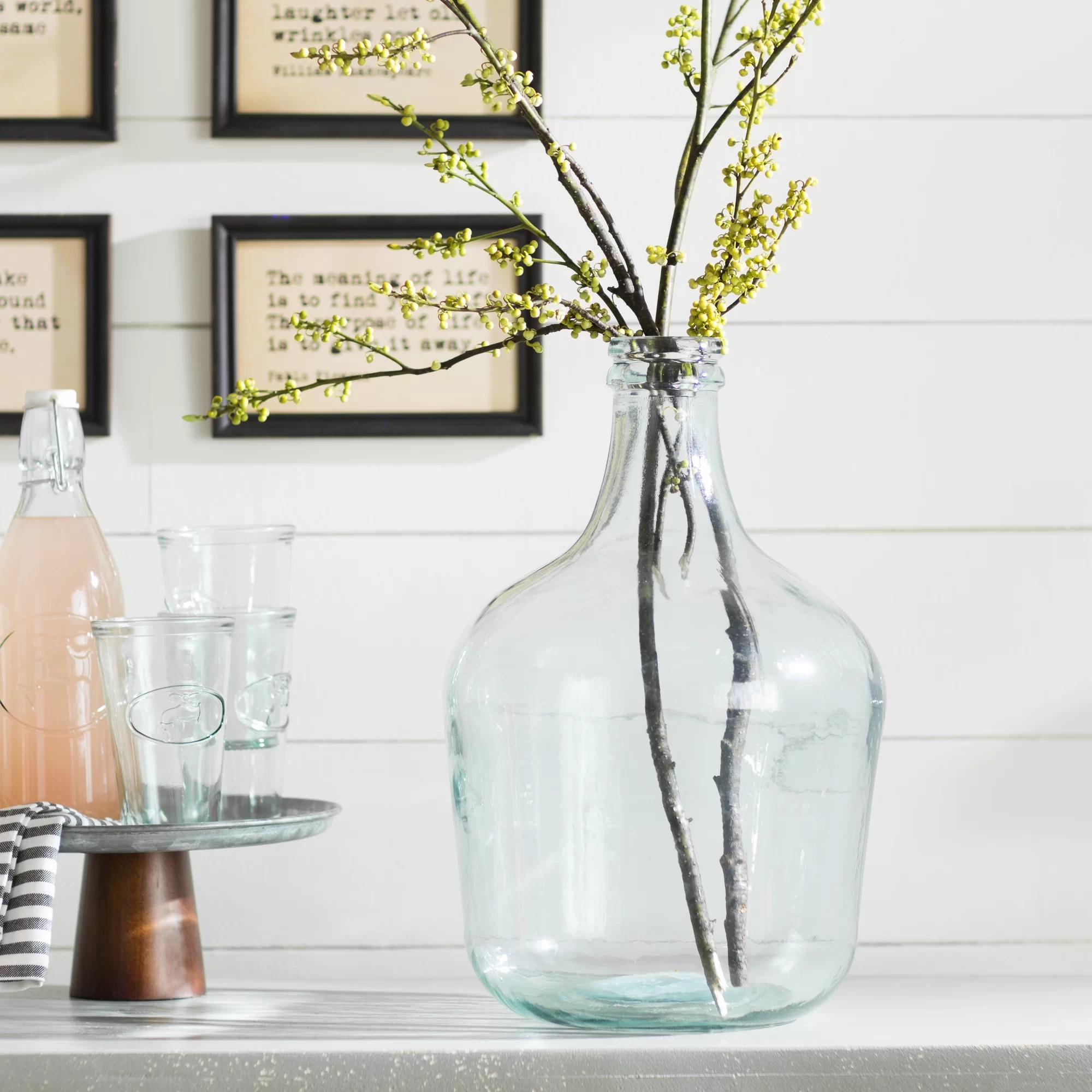 Laurel Foundry Modern Farmhouse Parisian Bottle Glass Table Vase Amp Reviews Wayfair