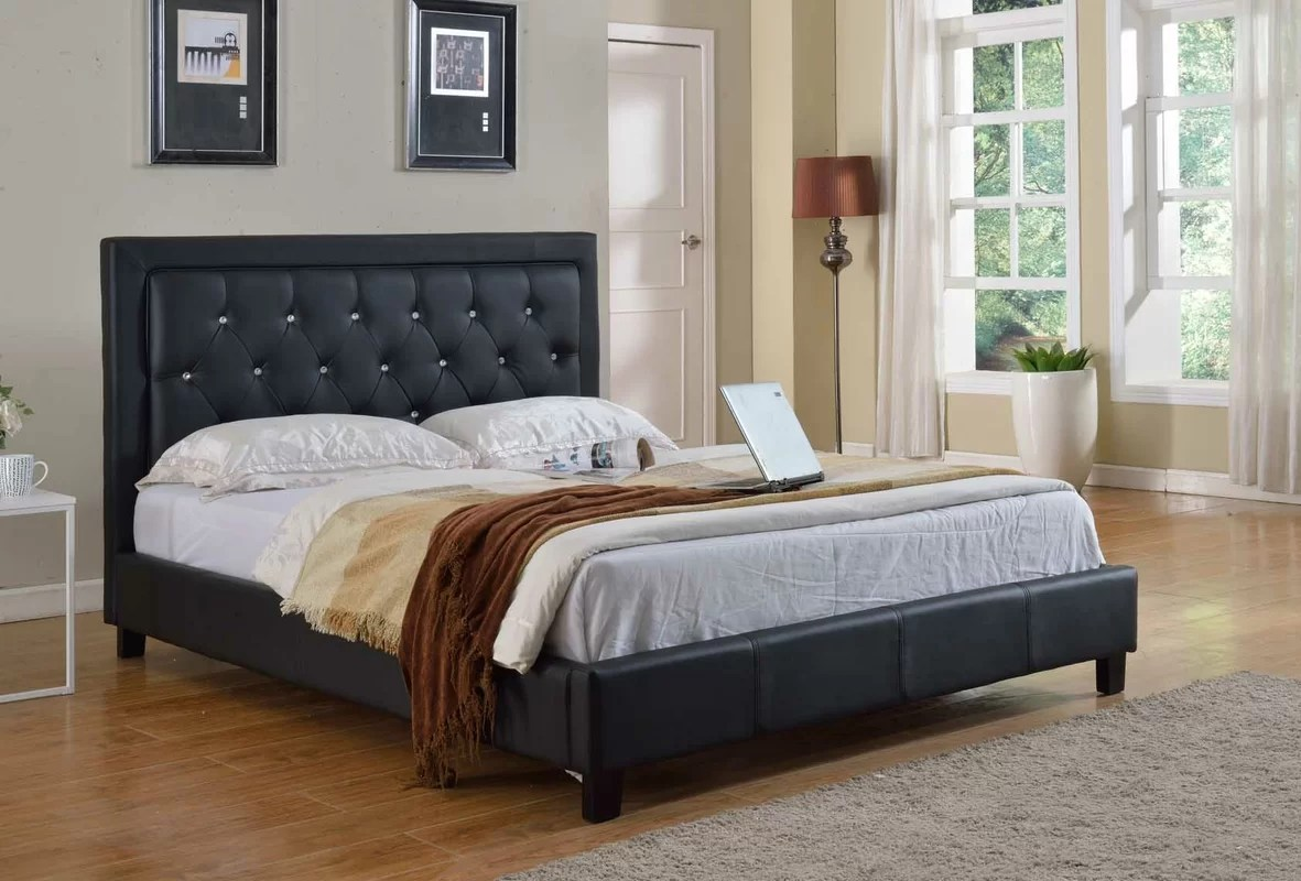 Milton Green Star Upholstered Platform Bed & Reviews