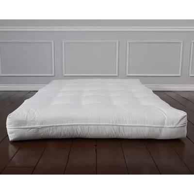 Bio Sleep Concept Luxury Cotton 8 Foam Core Futon Mattress Reviews Wayfair