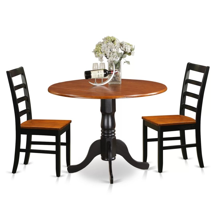 Kitchen Table Set Dining Wooden Chairs Dlpf3