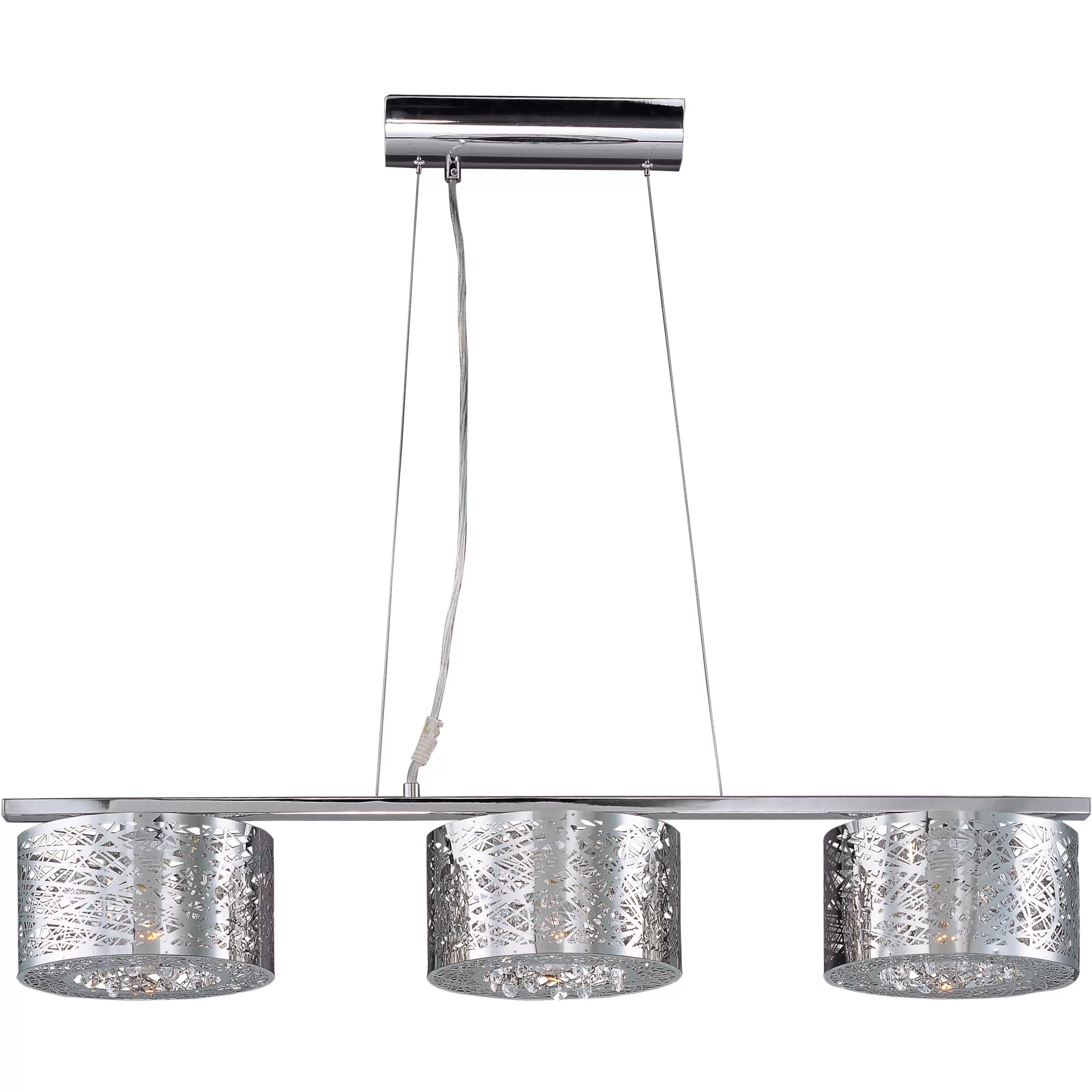 Ebro 3 Light Pendant With Led Bulb