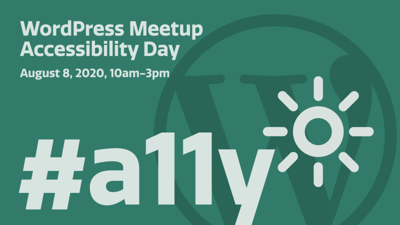 WordPress Meetup Accessibility Day graphic.