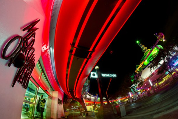 Photographer Tom Bricker Captures a Shot of Merchant of Venus Shop at Closing Time at Magic Kingdom Park
