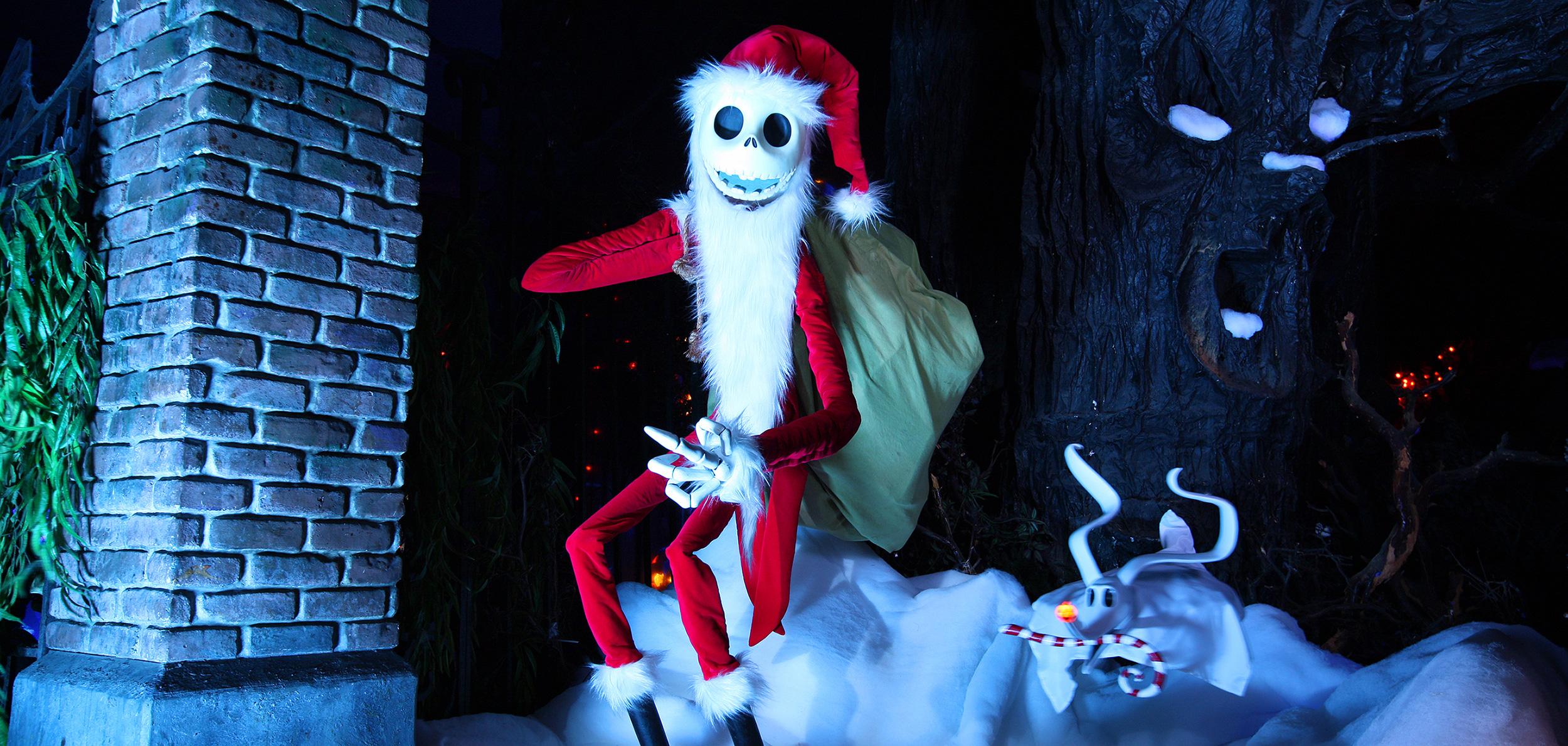 Santa Beard Hat Skellington Jack