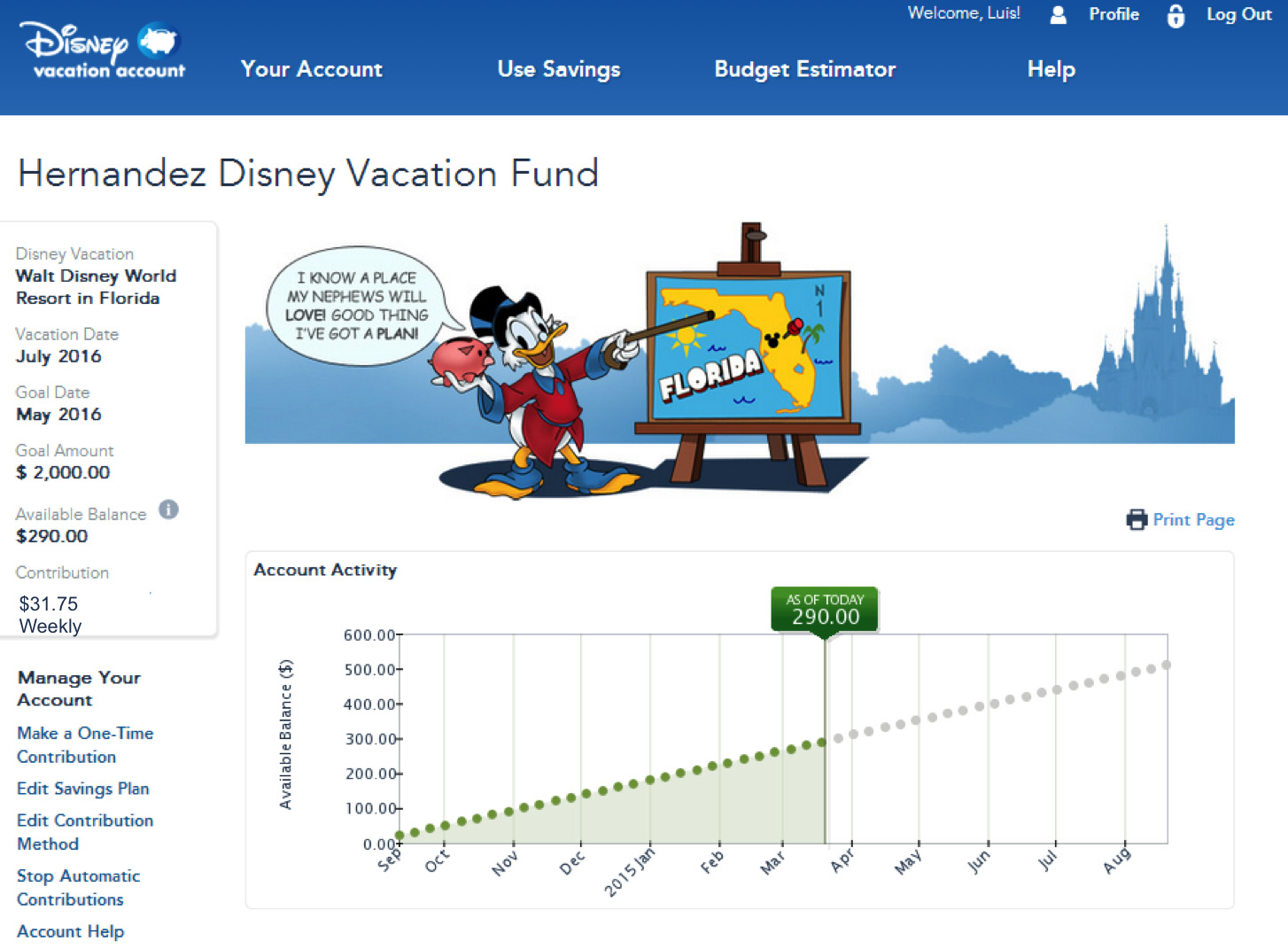 Disney Vacation Account Helps You Plan Save For Future Disney Vacations