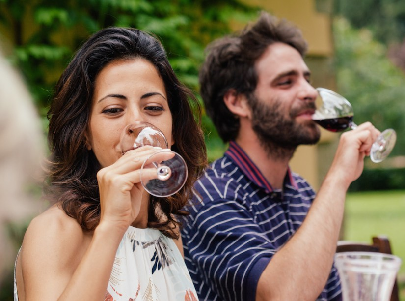 Wine tasting on an Adventures by Disney Italy vacation