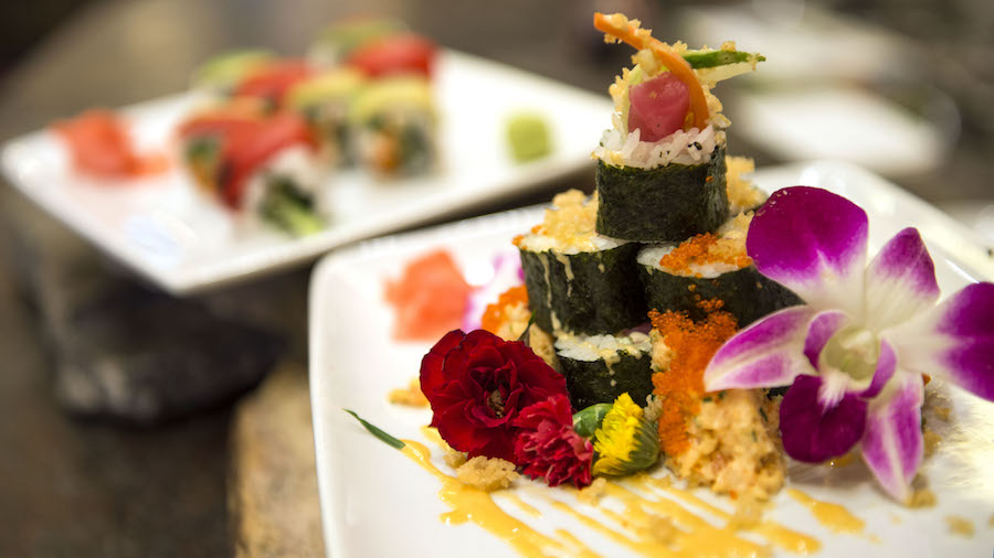Sushi from Kona Island at Disney's Polynesian Resort
