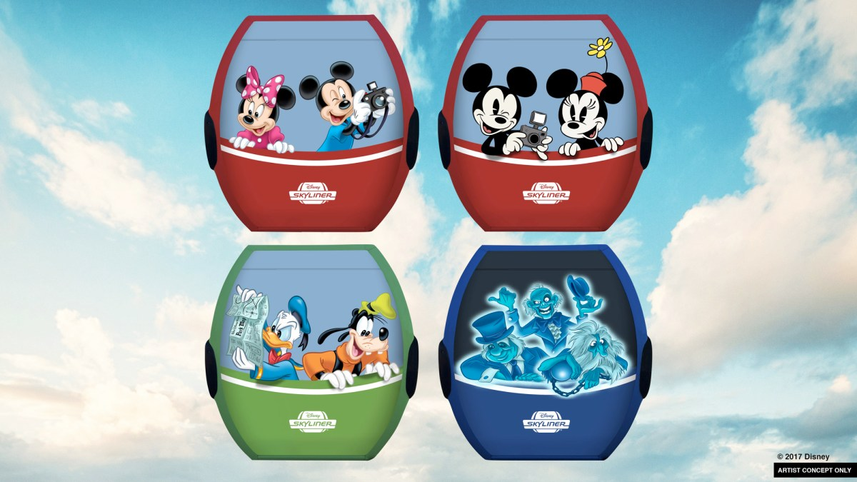Content owned by Disney - new transportation options coming to Walt Disney World including Skyliner and Minnie Mouse vehicles