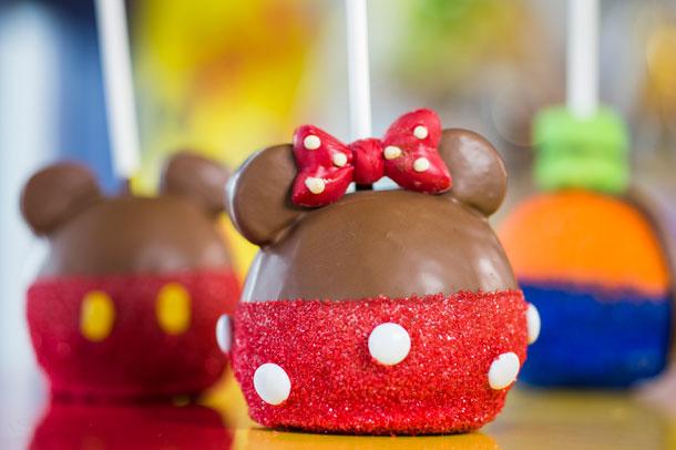 Minnie Mouse Candy Apple at Walt Disney World Resort