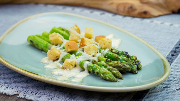 Grilled Asparagus Caesar Salad at Disney California Adventure Food & Wine Festival