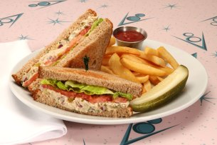 Fin-tastic Tuna Sandwich at Flo's V8 Café at Disney California Adventure Park