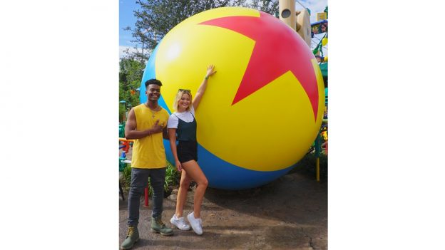 Stars Olivia Holt and Aubrey Joseph Explore Walt Disney World Resort