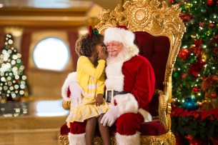 Holidays are magical aboard the Disney Dream with visits from Santa