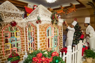 Giant gingerbread houses fill the Disney Cruise Line ships