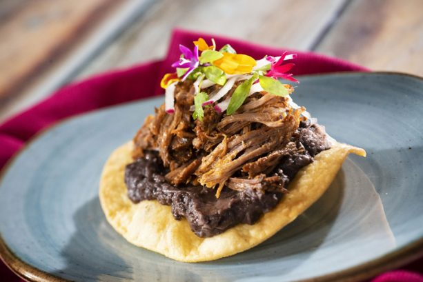Short Rib Tostada at the Mexico Marketplace for the Epcot International Food & Wine Festival