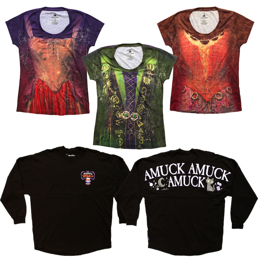 Sanderson Sisters-Inspired T-Shirts and 'Hocus Pocus'- Inspired black-colored Spirit Jersey