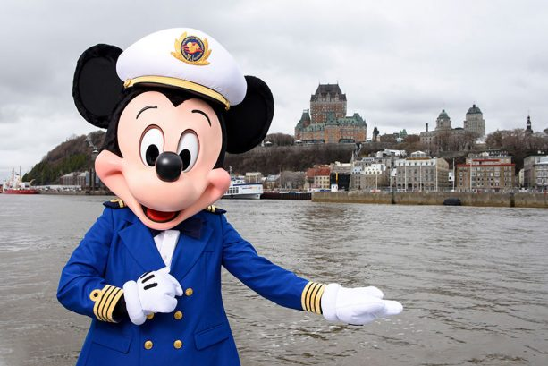 Mickey Mouse aboard Disney Cruise Line