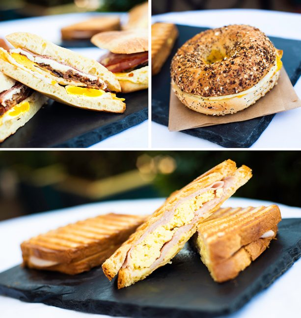 Breakfast Sandwiches at BoardWalk Bakery at Disney's BoardWalk