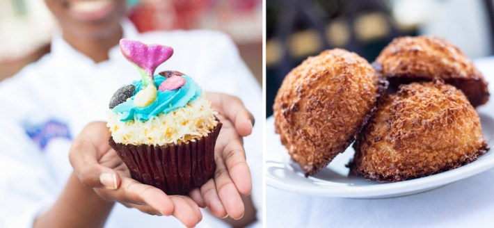 Mermaid Cupcake and Coconut Macaroons at BoardWalk Bakery at Disney's BoardWalk