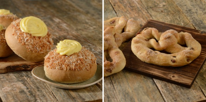 School Bread and Cinnamon Pretzel at Kringla Bakeri Og Kafe at Epcot