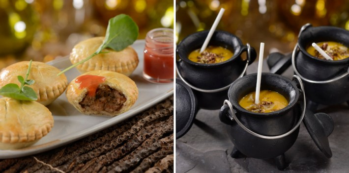 Hunter's Pie and Winter Squash Bisque at Storybook Dining at Artist Point at Disney's Wilderness Lodge