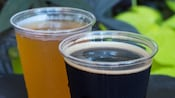 2 glasses of beer