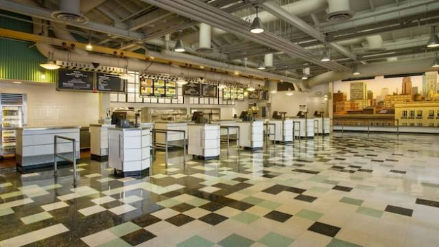 Service counters inside Backlot Express at Disney's Hollywood Studios