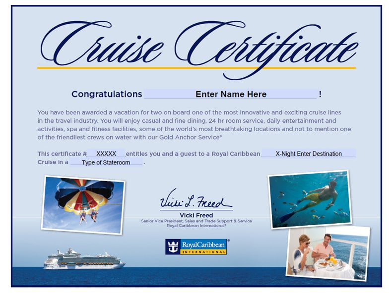 Royal Caribbean Gift Creativepoem