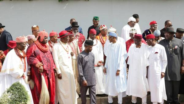 Image result for buhari with niger delta leaders