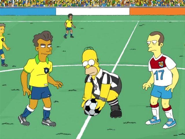 Los Simpson predicen Alemania 2-0 Brasil en la final del Mundial ...