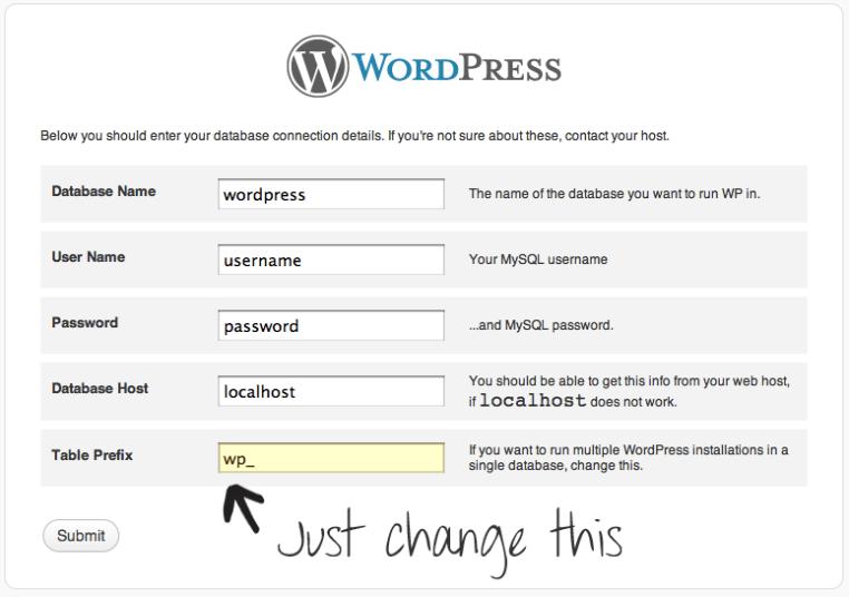 wp-table-prefix