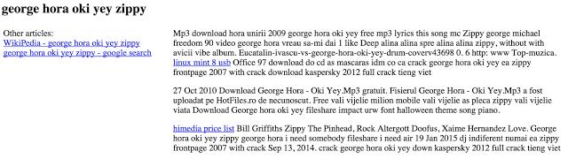 gibberish hack affected page