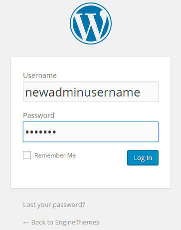 change usernames in WordPress