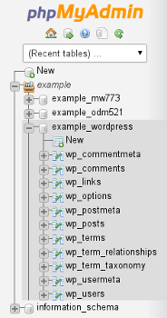 Check and repair MySQL database in phpMyAdmin