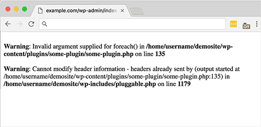 pluggable.php error on line in wordpress