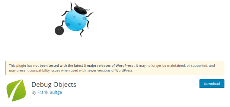 debug objects plugin wordpress