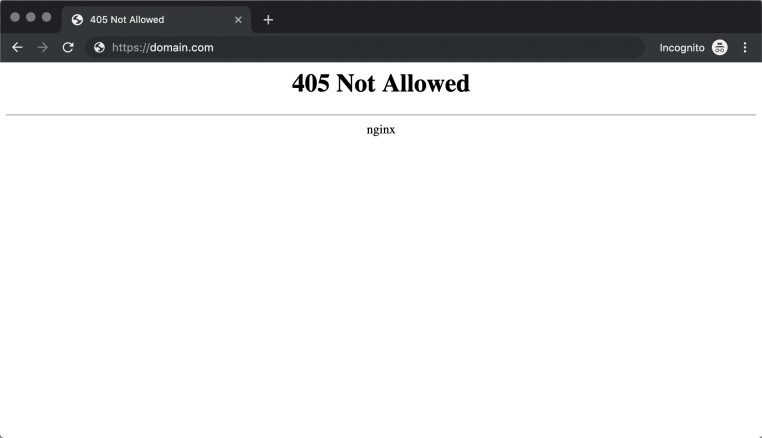 405 method not allowed error-nginx-chrome