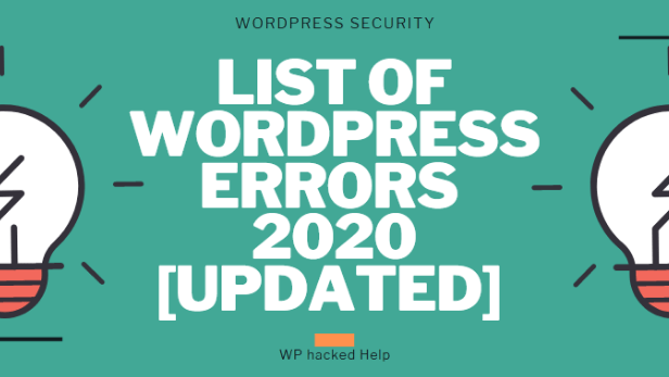 40 Common WordPress Errors & Issues – Troubleshooting Guide 2020