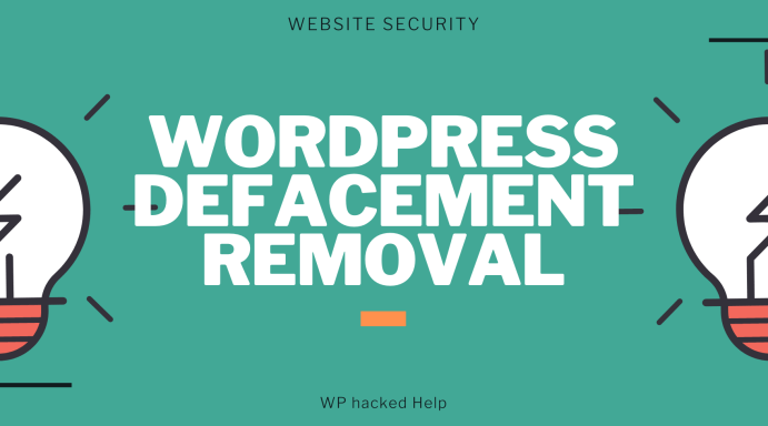 How to fix Defaced WordPress Website