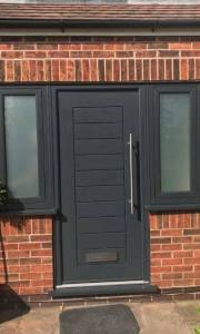 New Black Composite Door Installed