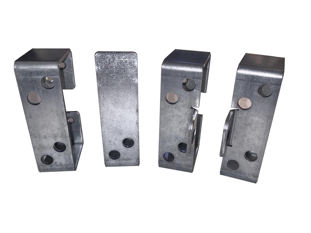 Galvanized Steel Secure 2x4 Bar Holder Kit - for securing sheds gates Front view
