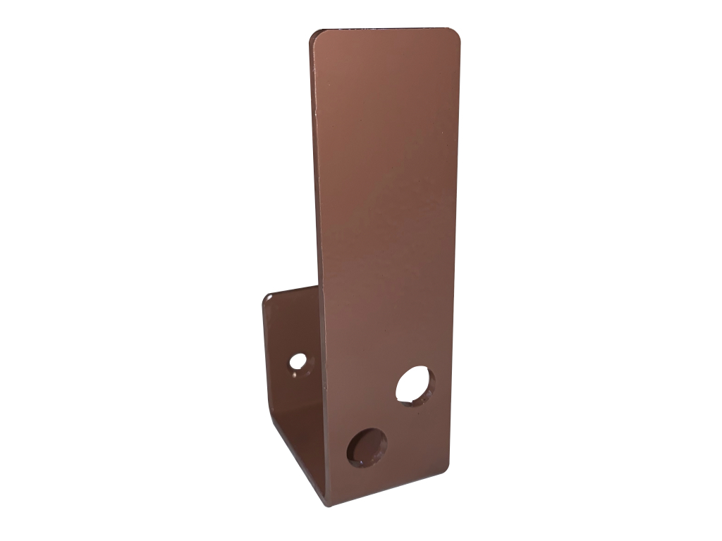 compact brown 2x4 bar holder for security