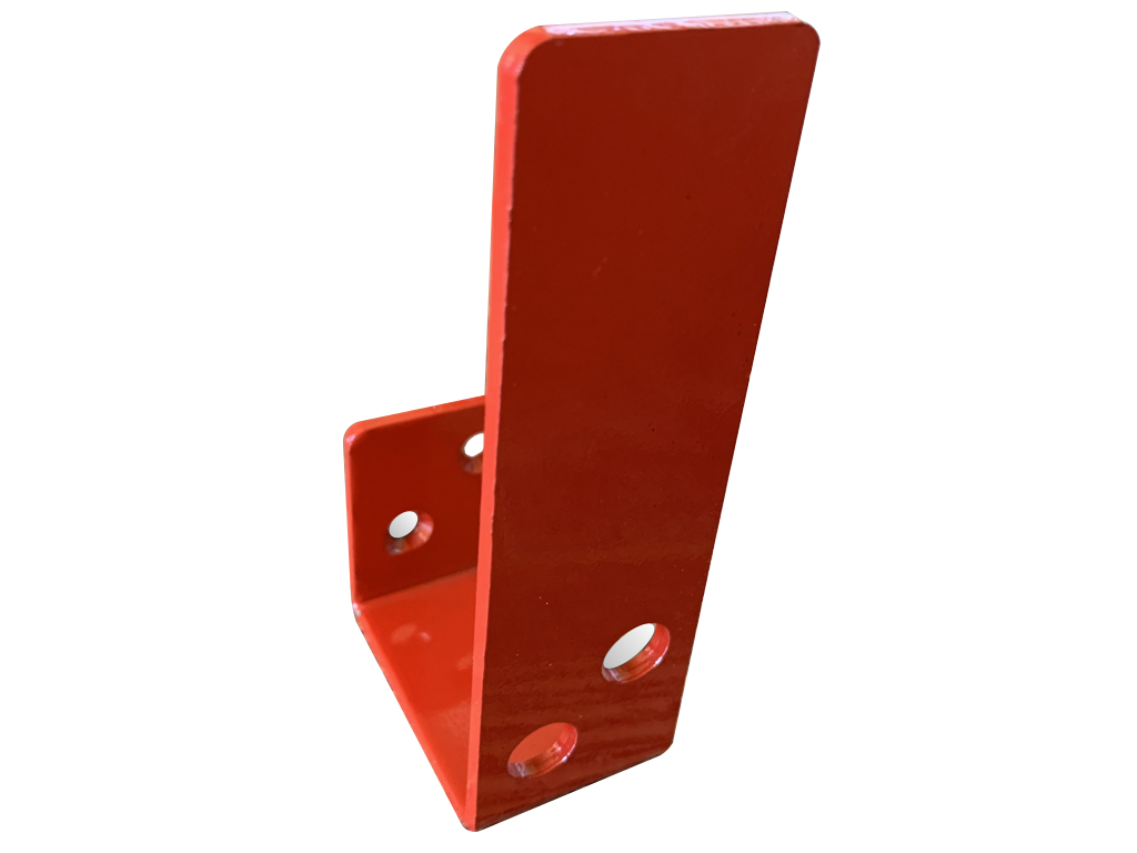compact red 2x4 bar holder for security